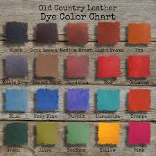 dye colors old country leather
