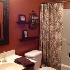 orange bathroom guest bath burnt orange brown burnt orange