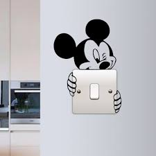 wall light switch stickers ebay mickey mouse wall sticker switch vinyl decal funny lightswitch kids room diy