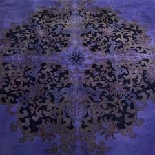antique chinese deco overdyed purple rug u2013 sasha bikoff