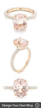create your own ring custom morganite and pave diamond engagement ring rings online