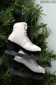 free felt ice skate ornament pattern swoodson says