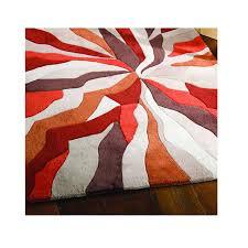 modern rugs flair infinite splinter orange brown rug 50