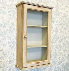 Wooden Bathroom Wall Cabinets Shabby Chic Painted Wooden Wall Cabinet Cupboard