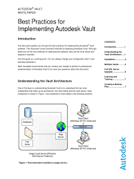 best practices for implementing autodesk vault microsoft sql