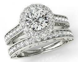 wedding sets for 1 carat forever one moissanite diamond wedding set