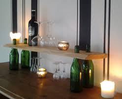 holzregal küche wandregale flaschen holzregal bar küche deko design regal ein