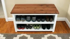 shoe storage and bench adjustable shoe storage bench front shot