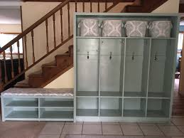 entryway lockers ana white entryway lockers and bench diy projects