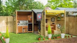 ultimate backyard bbq this ultimate beer shed is basically a bbq playground