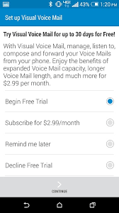 visual voicemail for android activate free basic visual voicemail on verizon m8 help android