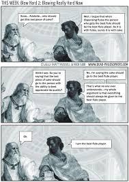 Flute Player Meme - blow hard 2 blowing really hard now dead philosophers in heaven
