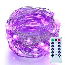 Battery Operated Mini Led String Lights by Amazon Com Dimmable Led String Lights With Remote Itart Purple