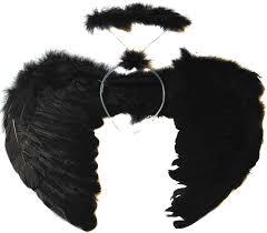 Angel Wings Halloween Costume Allsorts Black Feather Dark Angel Wings Halo Fancy Dress