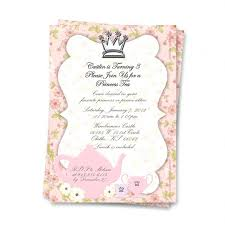 bridal tea party invitation wording bridal tea party invitations plus princess tea party invitation is
