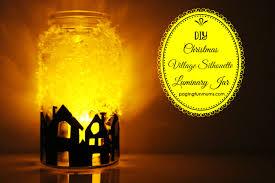 diy christmas village silhouette luminary jar