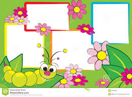 kid scrapbook grub and flowers royalty free stock images image