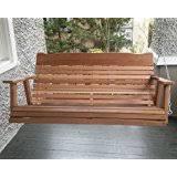 amazon com lakeland mills 5 foot cedar log porch swing natural