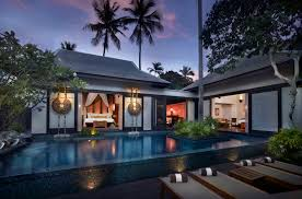 beautiful thai style private pool villa design best sunsets at
