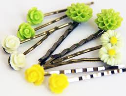 flower hair pins colored flower hair pins on a gift tag you your favorite