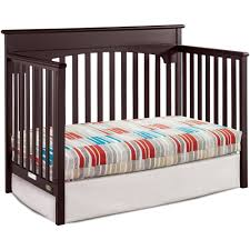 cribs that convert to toddler bed graco lauren 4 in 1 convertible crib espresso walmart com