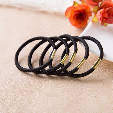 new high elastic black rubber band hair ring hair rope