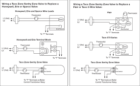hydronic heating taco zone sentry zone valves wiring example coverting from a honeywell zone valve or