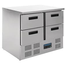 polar 4 drawer compact counter fridge 240 ltr u638 buy online
