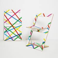 design klappstuhl klappstuhl fläpps bunte linien ambivalenz