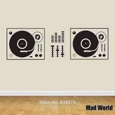 popular the art of wall murals buy cheap the art of wall murals mad world dj decks music wall art stickers decal home diy decoration wall mural removable