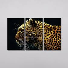 2017 unstretched home decoration animal painting of leopard