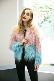 luxury winter women pink and blue gra nt hit color grass fur