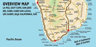 Where Is Mexico On The Map by Overview Map Of Southern Baja Los Cabos Guide