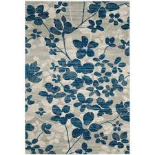 Turquoise And Gray Area Rug Safavieh Evoke Gray Ivory 8 Ft X 10 Ft Area Rug Evk220d 8 The