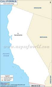 State Map Of California by California Blank Map With County Boundaries California Outline Map