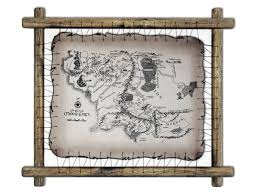 The Hobbit Map Lord Of The Rings Leather Map The Hobbit Map Tolkien Map