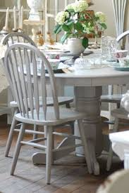Painted Kitchen Tables And Chairs by The White Is Swiss Coffee By Glidden And The Chairs Are Spray