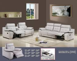 Sofa Casa Leather Recliner Sofa Set 1 2 3 Model R A304 A Casa Leather
