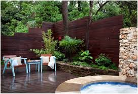 backyards innovative patio fences with wooden privacy panels
