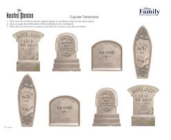 tombstones for haunted mansion cupcake tombstones disney family