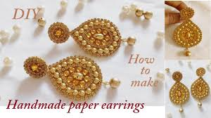 diy how to make designer earrings how to make paper earrings