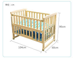 Next To Bed Crib Wood Baby Crib Cot With Trolley And Mosquito Net