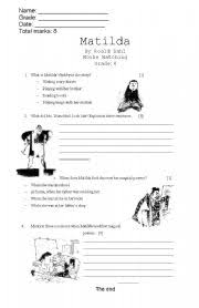 english worksheets matilda worksheets page 2