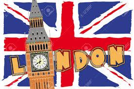 London Flag Big Ben Clipart London Flag
