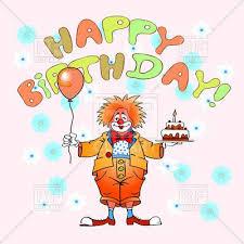 wedding invitation clown birthday greeting card vector show clowns clown with cake birthday greeting card 72925 royalty