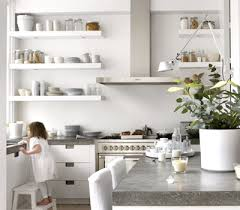kitchen wall shelving ideas kitchen organization for home staging white wall shelves