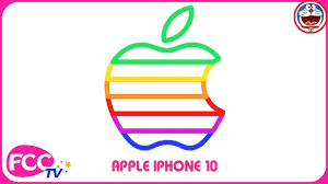 how to draw iphone 10 apple logo coloring page drawing for kids
