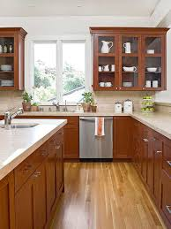 wood stained kitchen cabinets understanding wood cabinet finishes better homes gardens