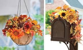 outdoor fall decorations fall decorating ideas sunflower home decor collection