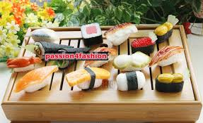 simulation cuisine pack of 10 high simulation japanese sushi model props cuisine